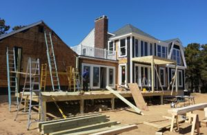 custom built home during construction