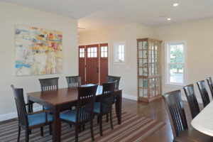 Dining area off the kitchen