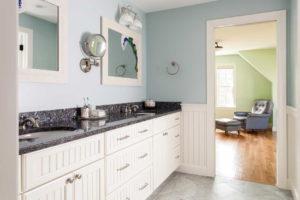Large bathroom vanity with 2 sinks