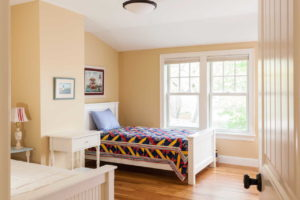 Spare bedroom with 2 single beds