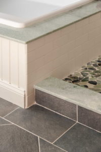 Detail of shower tile