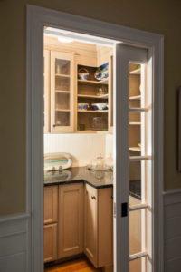 Sliding door into the kitchen
