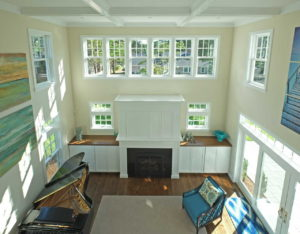 Looking down on the sitting room